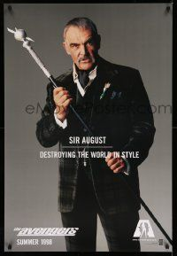 2z064 AVENGERS teaser 1sh '98 Sean Connery as Sir August - destroying the world in style!