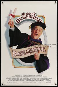 2z068 BACK TO SCHOOL 1sh '86 Rodney Dangerfield goes to college with his son!