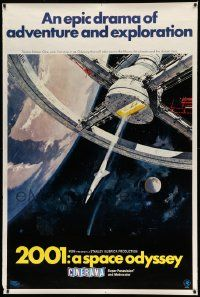 3c108 2001: A SPACE ODYSSEY Cinerama 40x60 '68 McCall space wheel, ultra rare, never before seen!