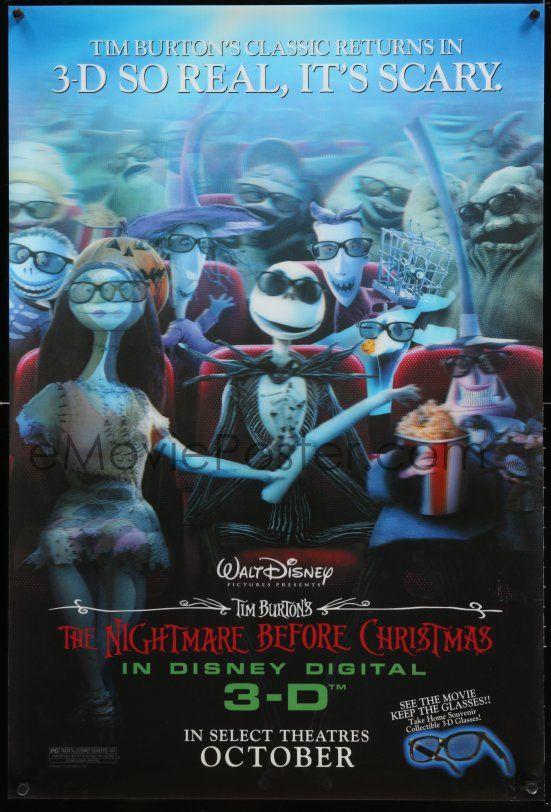 1 of 1 3d184 nightmare before christmas lenticular 1sh r06 tim burton disney jack sally in 3d theater - Nightmare Before Christmas 3d