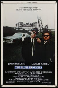3g416 BLUES BROTHERS 1sh '80 John Belushi & Dan Aykroyd are on a mission from God!