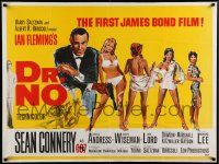 3g177 DR. NO British quad '62 great art of Sean Connery in the first James Bond film, ultra rare!