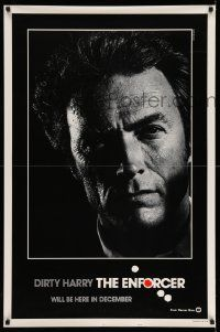3g420 ENFORCER teaser 1sh '76 different photo of Clint Eastwood by Bill Gold, never before seen!