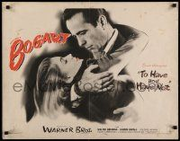 3g394 TO HAVE & HAVE NOT 1/2sh '44 incredible image of Humphrey Bogart & Lauren Bacall, ultra rare!