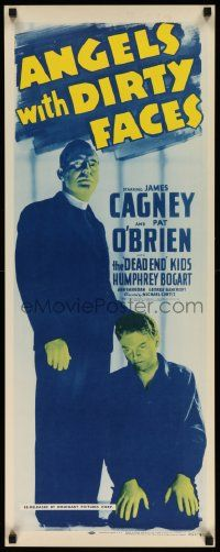3g395 ANGELS WITH DIRTY FACES insert R56 classic image of James Cagney kneeling by O'Brien, rare!