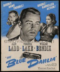 3g066 BLUE DAHLIA pressbook '46 Alan Ladd, sexy Veronica Lake, great unseen poster images!