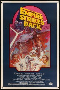 3h125 EMPIRE STRIKES BACK 40x60 R82 George Lucas sci-fi classic, cool artwork by Tom Jung!