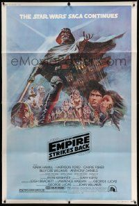 3h124 EMPIRE STRIKES BACK style B 40x60 '80 George Lucas sci-fi classic, cool artwork by Tom Jung!