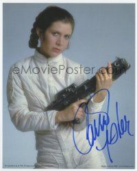 3h447 CARRIE FISHER signed color 8x10 publicity still '02 by the actress as Princess Leia!