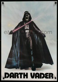3h202 DARTH VADER 20x28 commercial poster '77 image of Sith Lord w/ lightsaber activated!