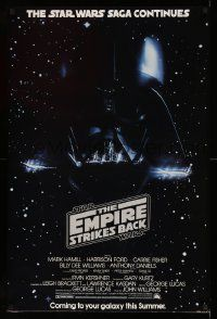 3h213 EMPIRE STRIKES BACK 24x36 commercial poster '80 Darth Vader image from advance one sheet!