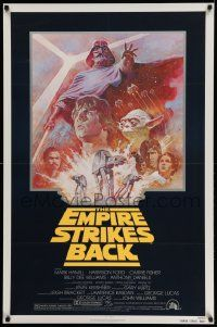 3h151 EMPIRE STRIKES BACK NSS style 1sh R81 George Lucas classic, Mark Hamill, Ford, Tom Jung art!