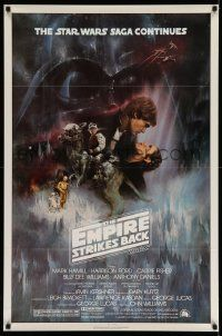 3h148 EMPIRE STRIKES BACK NSS style 1sh '80 classic Gone With The Wind style art by Roger Kastel!