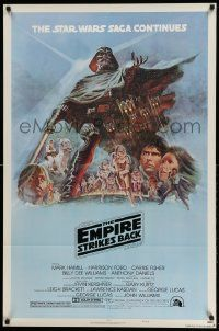 3h150 EMPIRE STRIKES BACK NSS style B 1sh '80 George Lucas sci-fi classic, art by Tom Jung!