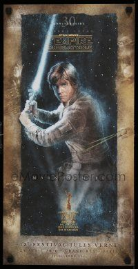3h039 EMPIRE STRIKES BACK French 12x24 '10 George Lucas classic, cool art of Luke by D. Graffer!