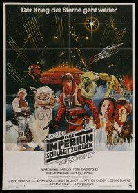 3h099 EMPIRE STRIKES BACK German '80 George Lucas sci-fi classic, different art montage!