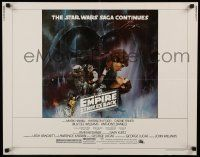 3h106 EMPIRE STRIKES BACK 1/2sh '80 classic Gone With The Wind style art by Roger Kastel!