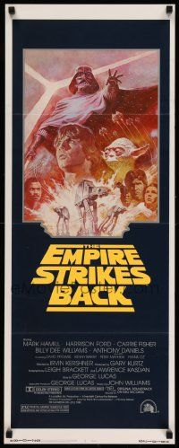 3h113 EMPIRE STRIKES BACK insert R81 George Lucas sci-fi classic, cool artwork by Tom Jung!