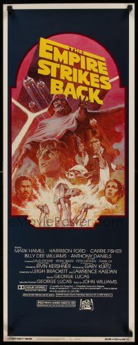 3h114 EMPIRE STRIKES BACK insert R82 George Lucas classic, cool montage art by Tom Jung!