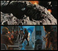 3h010 EMPIRE STRIKES BACK two print promo pack 11x24 '79 w/2 art prints & metal Darth Vader emblem