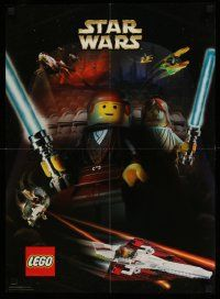 3h284 ATTACK OF THE CLONES 19x26 advertising poster '02 Star Wars Episode II, Lego figures!