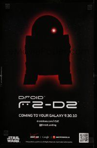 3h302 DROID R2-D2 11x17 advertising poster '10 cell phones, coming to your Galaxy!