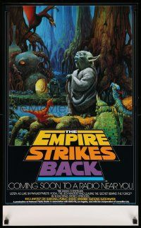 3h227 EMPIRE STRIKES BACK radio poster '82 George Lucas sci-fi classic, cool art by McQuarrie!