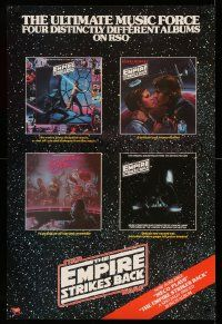 3h223 EMPIRE STRIKES BACK 24x36 music poster '80 ultimate music force, art from four albums!