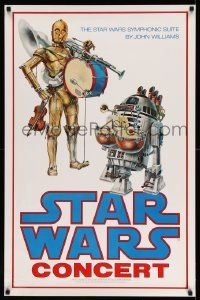 3h130 STAR WARS CONCERT 24x37 music poster '78 ultra rare poster made in 1978 for concert series!