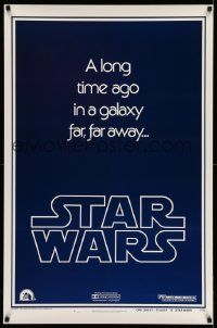 3h135 STAR WARS style B teaser 1sh '77 a long time ago in a galaxy far, far away...