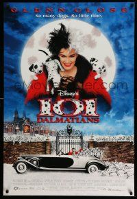 3r015 101 DALMATIANS DS 1sh '96 Walt Disney live action, Glenn Close as Cruella De Vil!