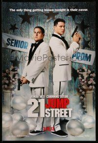 3r023 21 JUMP STREET teaser DS 1sh '12 Jonah Hill, Channing Tatum, cops at prom!