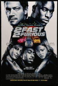3r021 2 FAST 2 FURIOUS DS 1sh '03 Paul Walker, Tyrese Gibson, Eva Mendes, import tuner car racing!