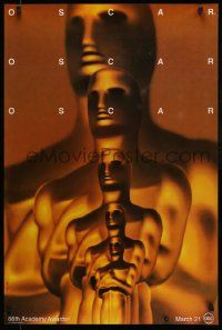 3r004 66TH ANNUAL ACADEMY AWARDS 1sh '94 Saul Bass art of Oscar!