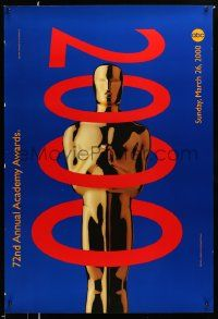 3r006 72ND ANNUAL ACADEMY AWARDS heavy stock 1sh '00 cool Oscar design by Arnold Schwartzman!