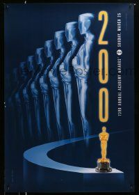 3r007 73RD ANNUAL ACADEMY AWARDS 1sh '01 cool Alex Swart design & image of many Oscars!