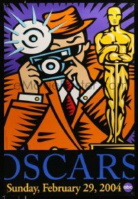 3r010 76TH ANNUAL ACADEMY AWARDS DS 1sh '04 great Burton Morris art of photographer & Oscar!