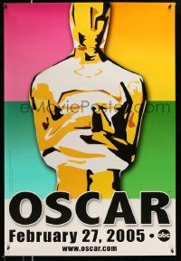 3r011 77th ANNUAL ACADEMY AWARDS heavy stock DS 1sh '05 Brett Davidson artwork of the Oscar!
