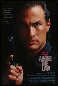 3r040 ABOVE THE LAW 1sh '88 best image of tough guy Steven Seagal!