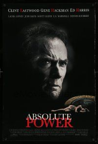 3r041 ABSOLUTE POWER 1sh '97 great image of star & director Clint Eastwood!