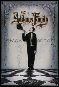 3r044 ADDAMS FAMILY teaser 1sh '91 Carel Struycken as Lurch, weird is relative!