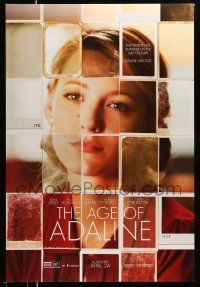 3r054 AGE OF ADALINE teaser DS 1sh '15 cool photograph collage of gorgeous Blake Lively!
