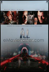 3r039 A.I. ARTIFICIAL INTELLIGENCE int'l advance DS 1sh '01 Spielberg, Haley Joel Osment, Jude Law!