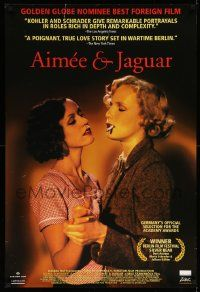 3r055 AIMEE & JAGUAR 1sh '99 Maria Schrader, Juliane Kohler, German WWII secret lesbians!
