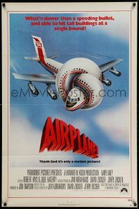 3r056 AIRPLANE 1sh '80 classic zany parody by Jim Abrahams and David & Jerry Zucker!