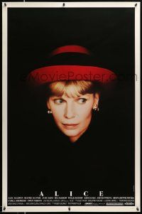3r063 ALICE 1sh '90 Woody Allen, cool headshot portrait of Mia Farrow by Brian Hamill!