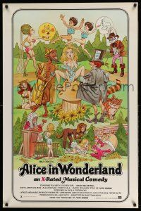 3r067 ALICE IN WONDERLAND 1sh '76 x-rated, sexy Playboy cover girl Kristine De Bell!