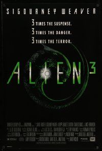3r070 ALIEN 3 1sh '92 Sigourney Weaver, 3 times the danger, 3 times the terror!