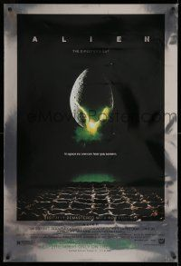 3r068 ALIEN style A foil heavy stock 1sh R03 Ridley Scott outer space sci-fi monster classic!