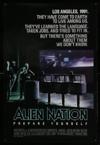 3r072 ALIEN NATION 1sh '88 they've come to Earth to live among us, they learned our language!